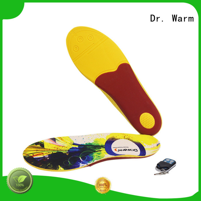 Dr. Warm fishing rechargeable heated insoles with cotton for ice house