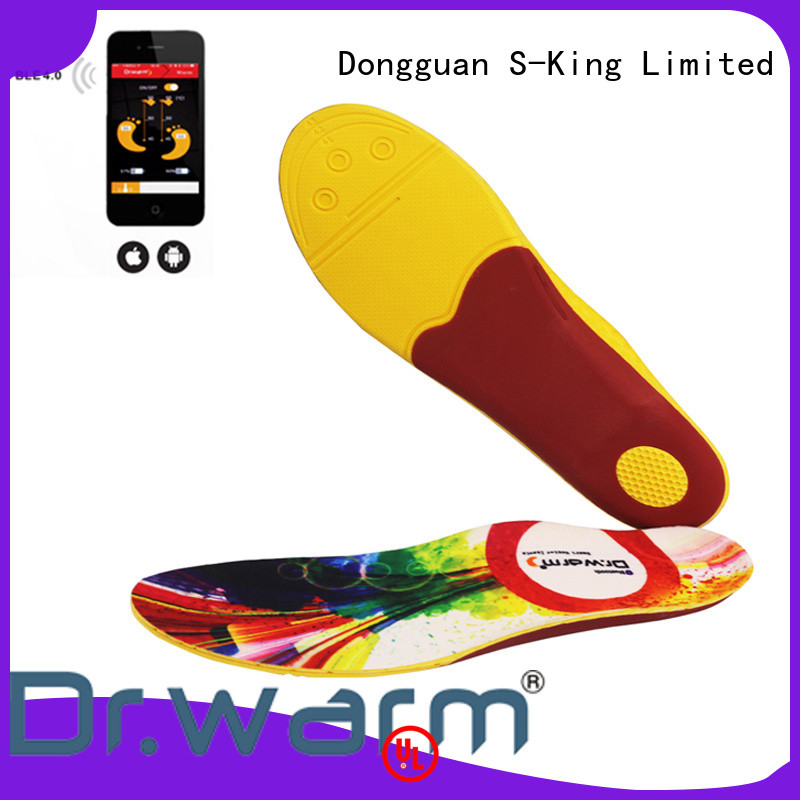 Dr. Warm dr electric heated shoe insoles lasts for 3-7hours for outdoor