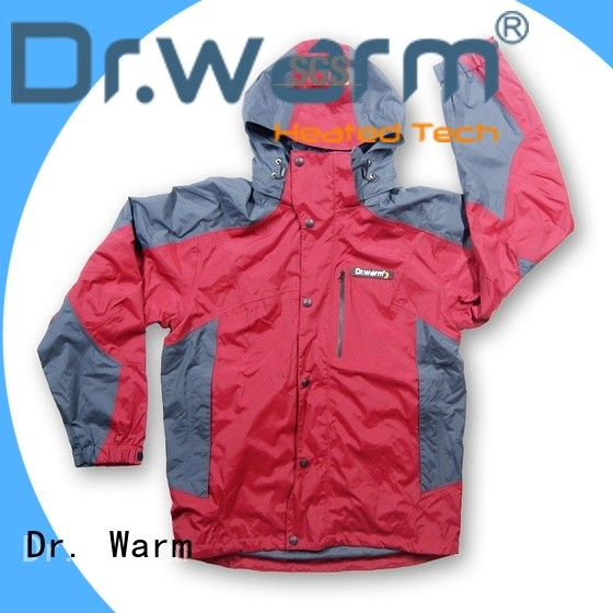 Dr. Warm grid battery jacket with heel cushion design for ice house