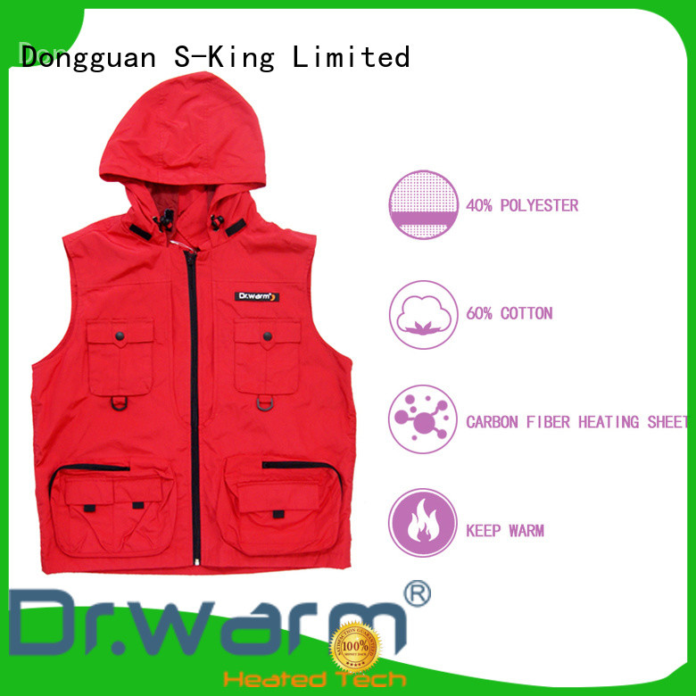 heated electric vest heated improves blood circulation for indoor use