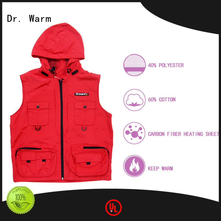 Dr. Warm vest electric heated vest with prined pattern for indoor use