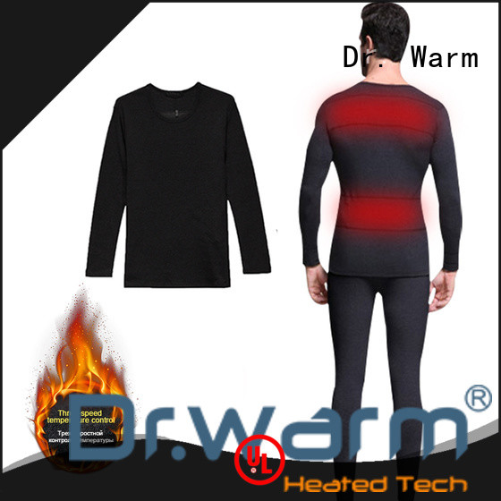 Dr. Warm heating battery heated underwear with prined pattern for winter