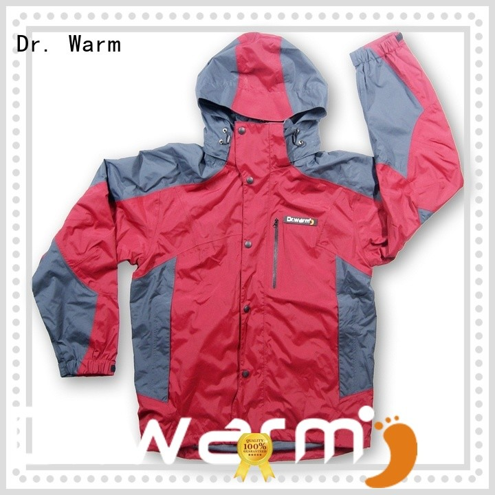 Dr. Warm men heat jackets rechargeable with heel cushion design for ice house